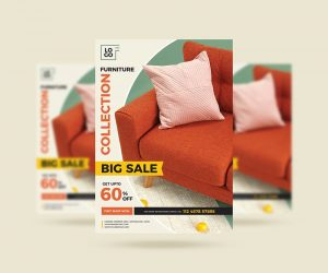 Furniture Mega Sale Free Flyer Template (PSD)