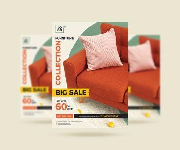 Furniture Mega Sale Free Flyer Template (PSD)