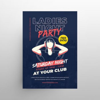 Girls Party Free DJ PSD Flyer Template