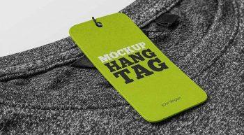Hang Tag on Clothes Free Mockup (PSD)