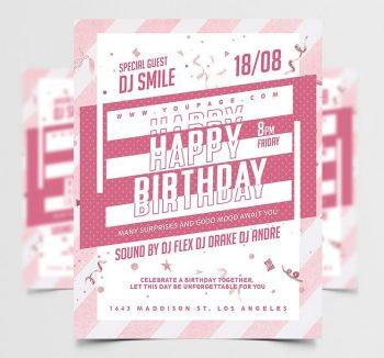 Happy Birthday Celebration Free Flyer Template (PSD)