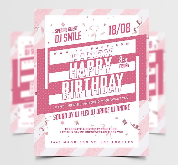 Happy Birthday Celebration Free Flyer Template (PSD)