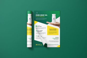 Hemp Oil Ad Free Flyer Template (PSD)