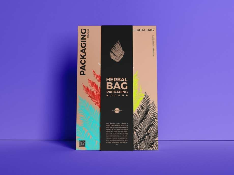 Herbal Bag Packaging Free Mockup