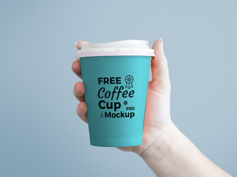 Holding Paper Coffee Cup Mockup