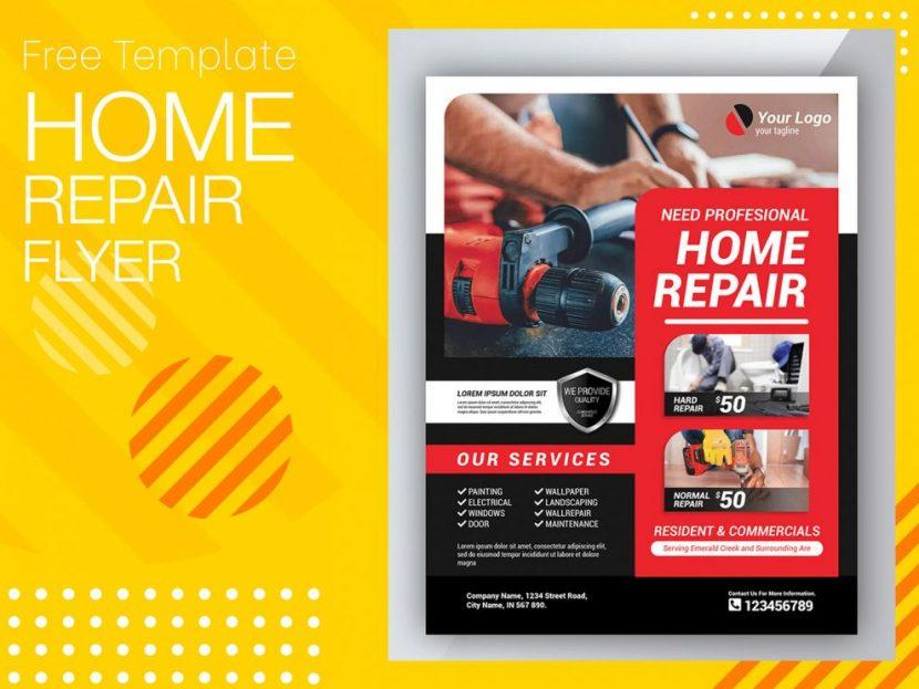 Home Repair Free Flyer Template (PSD)