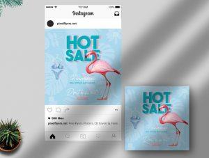 Hot Sale Free Summer Instagram Post Template (PSD)