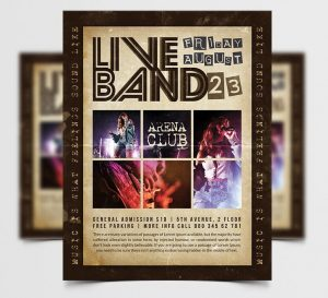 Indie Live Concert Free Flyer Template (PSD)