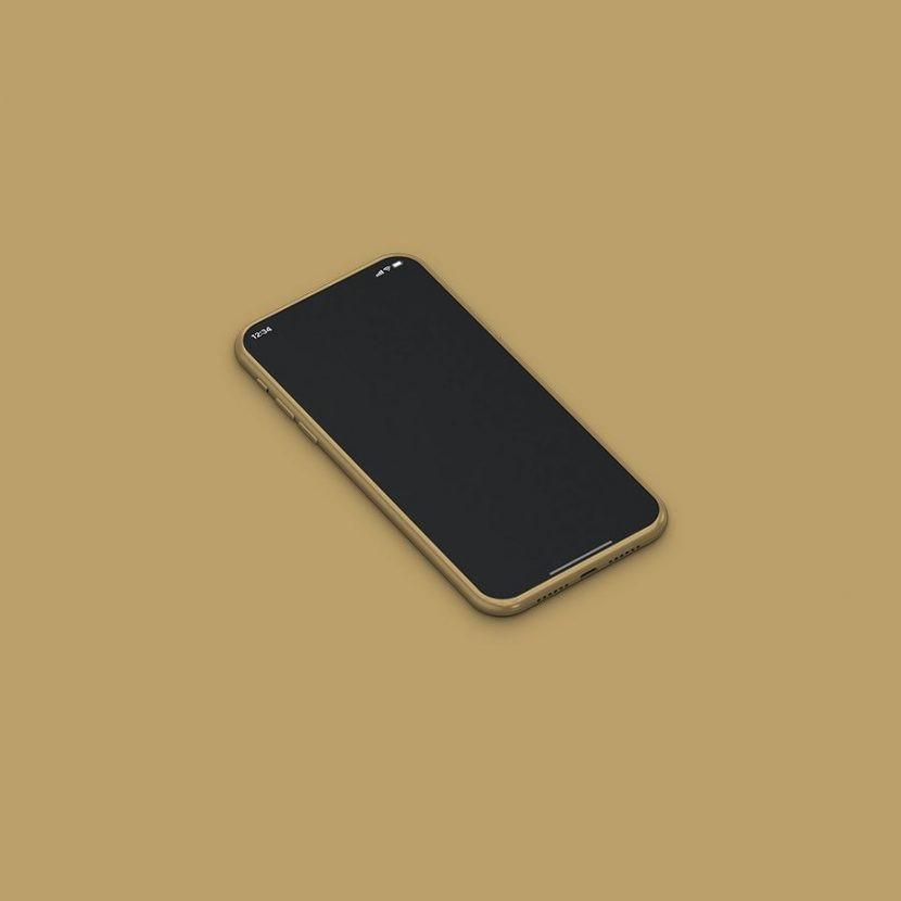 Isometric iPhone 11 Free Mockup
