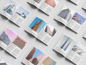 Magazine Set Free Mockup (PSD)