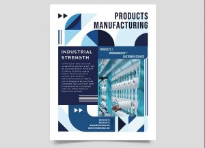 Manufacturing Ad Free Flyer Template (PSD)