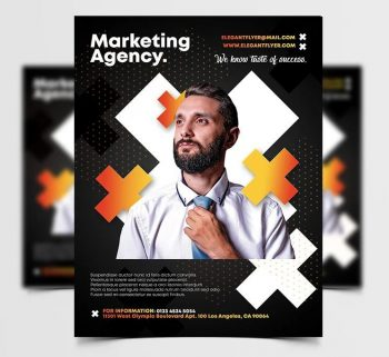Marketing Services Ad Free Flyer Template (PSD)