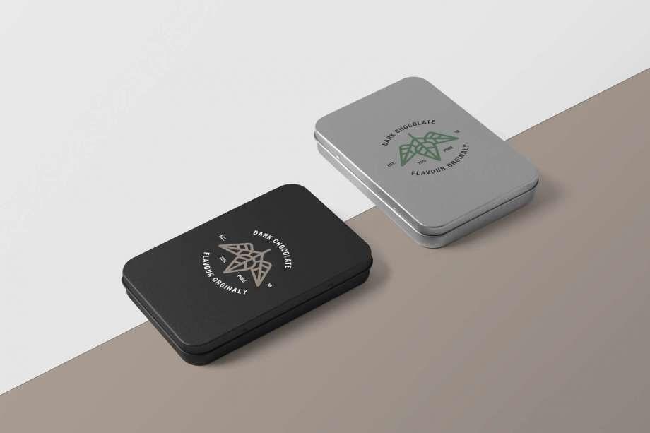Metal Boxes Free Mockup (PSD)