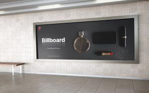 Metro Station Landscape Billboard Free Mockup