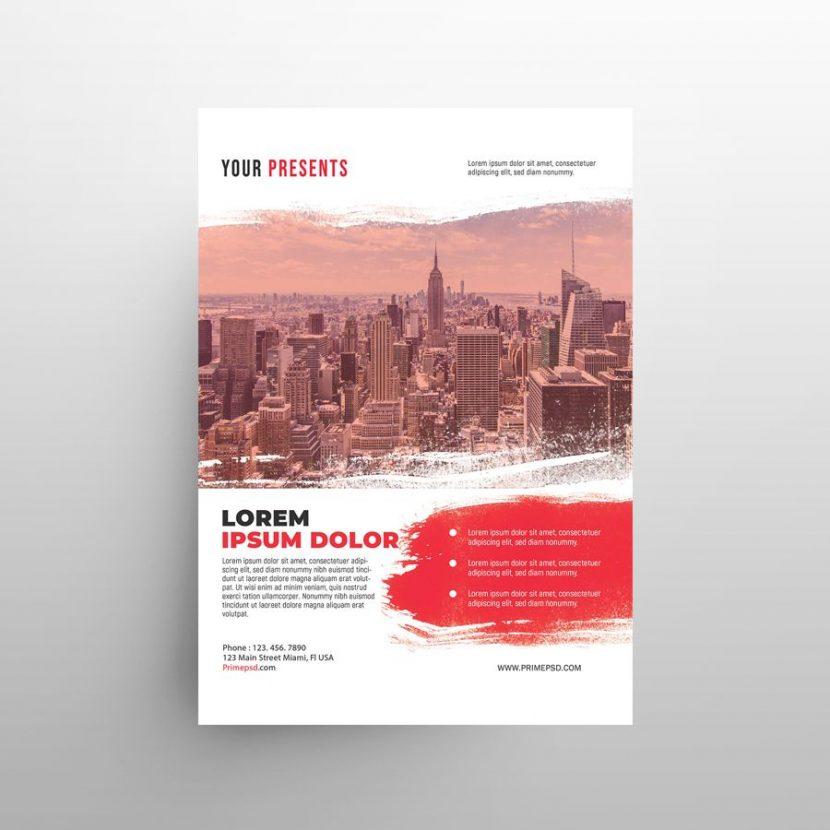 Modern Corporate Free Flyer Template (PSD)