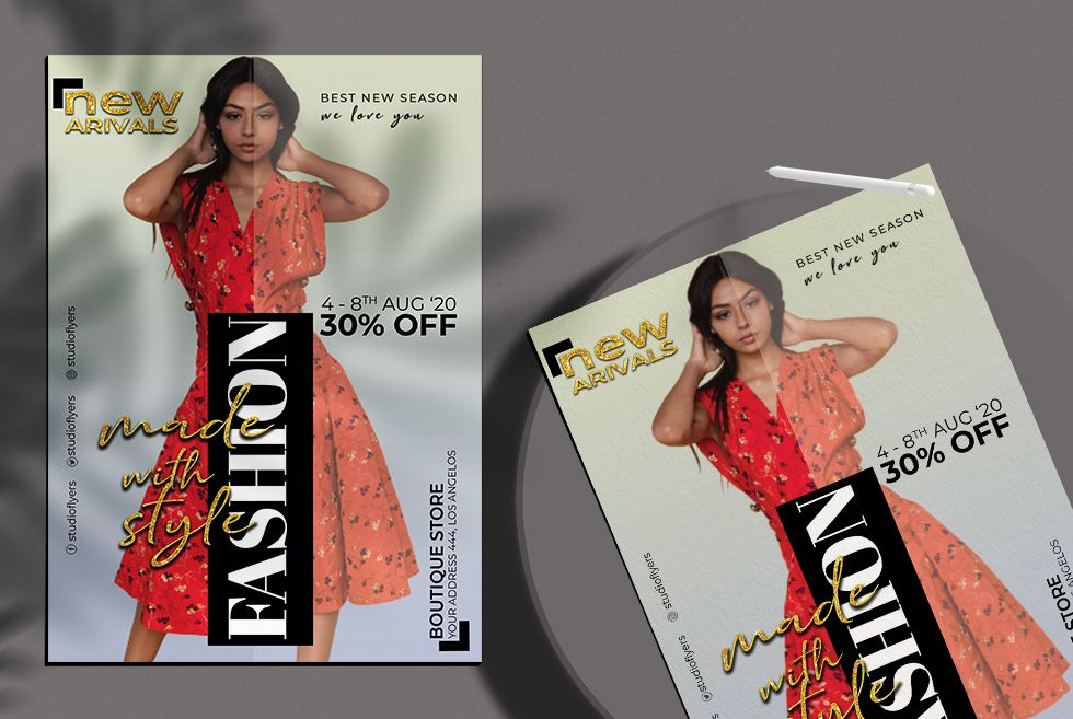 Modern Fashion Sale Free Flyer Template (PSD)
