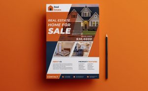 Modern Real Estate Ad Free Flyer Template (PSD)