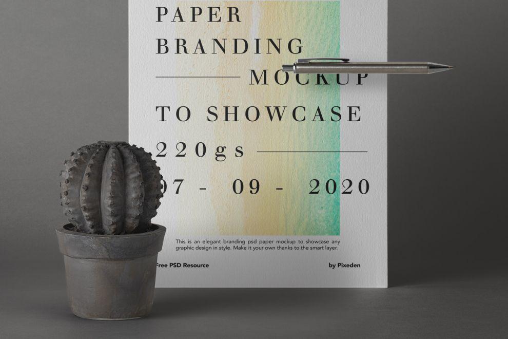 Monochrome US Flyer Paper Free Mockup