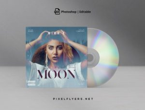 Moon Sound Free Mixtape CD Artwork Cover Template (PSD)