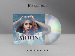 Moon Sound Free Mixtape CD Artwork Cover Template (PSD)
