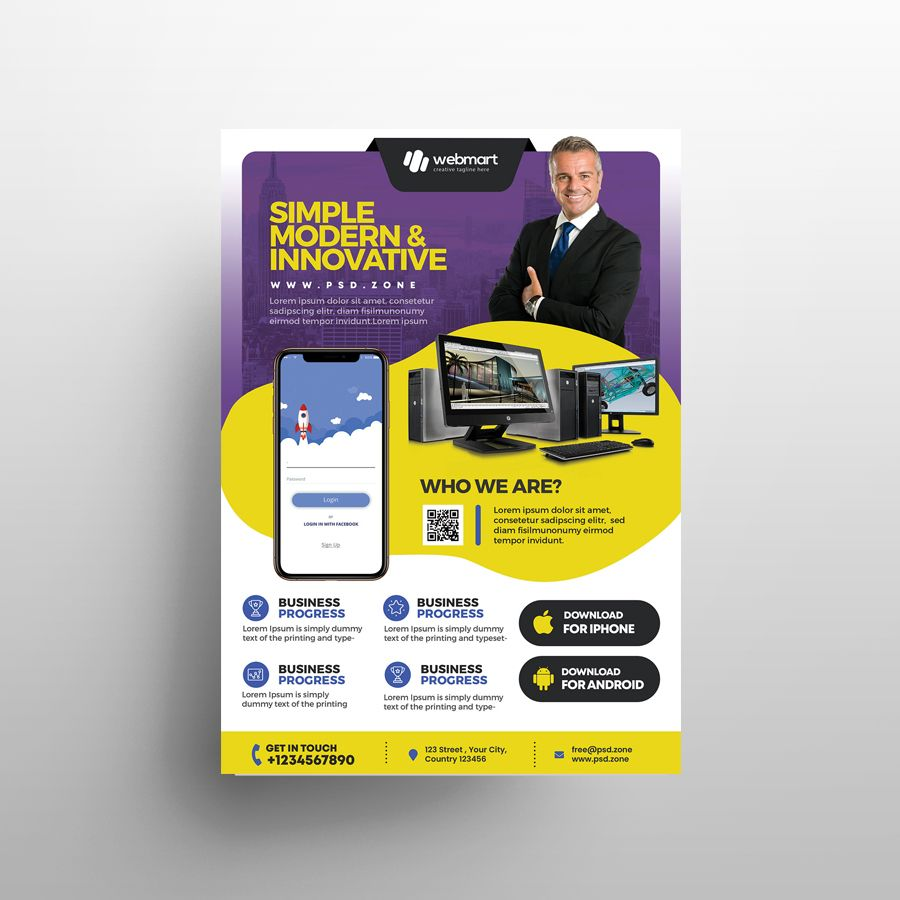 Multipurpose Corporate Free PSD Flyer Template