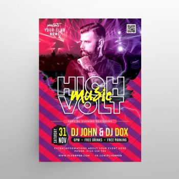 Music Night Free Flyer Template (PSD)