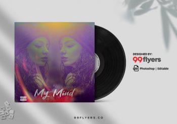 My Mind Free Music Mixtape CD Artwork Cover Template (PSD)