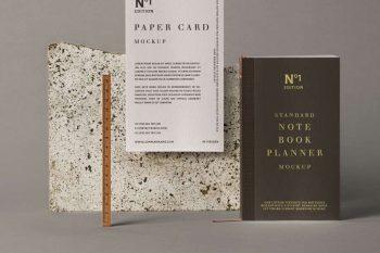 Notebook Stationery Free Mockup