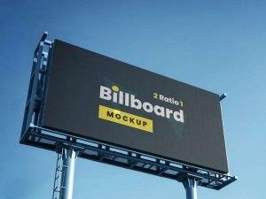 Outdoor Billboard Advertisment Free Mockup