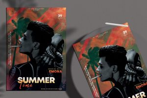 Party Summer Free DJ Flyer Template (PSD)