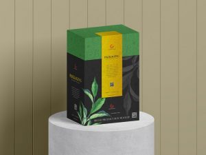 Product Packaging Box Free Mockup (PSD)
