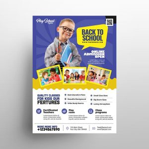 School Kids Open Free Flyer Template (PSD)