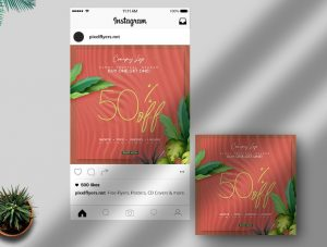Special Summer Sale Free Instagram Post Template (PSD)