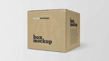 Square Box Paper Free Mockup