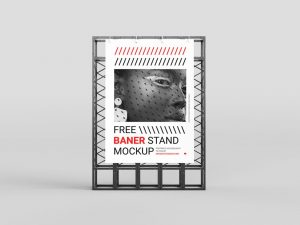 Stand Banner Advertisment Free Mockup