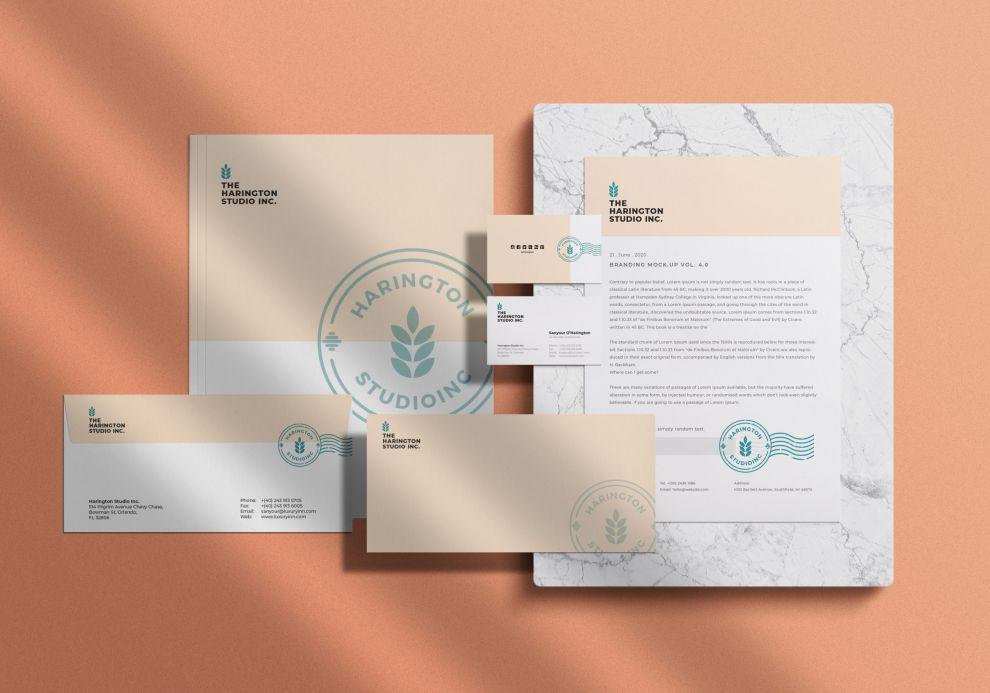 Stationery Branding Free PSD Mockup