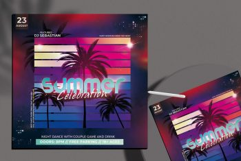 Summer Electro Free PSD Flyer Template