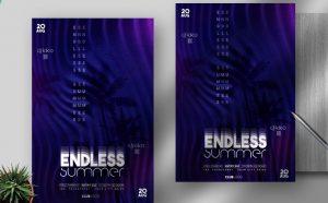 Summer Festival Free Minimal Flyer Template (PSD)