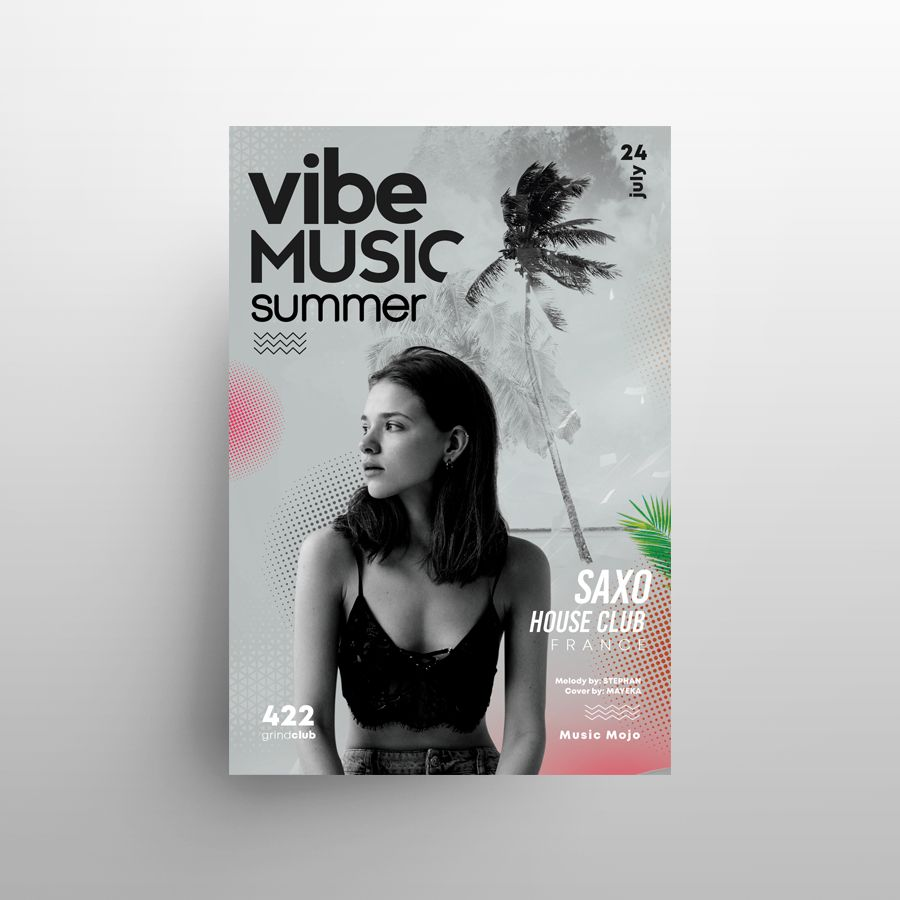 Summer Music Festival Free Flyer Template (PSD)