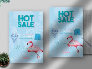 Summer Season Sale Free Flyer Template (PSD)