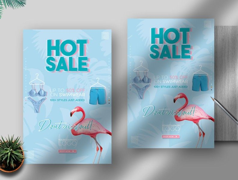 Summer Season Sale Free Flyer Template (PSD)
