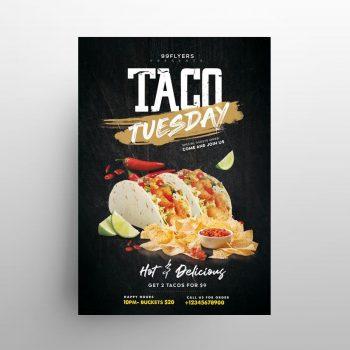 Taco Offer Free Restaurant Flyer Template (PSD)