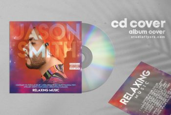 TheMusic Rel Free Mixtape CD Cover Artwork Template (PSD)