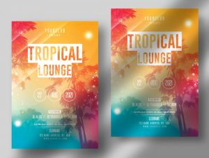 Tropic Lounge Free Summer Flyer Template (PSD)
