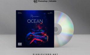 Under Water Free Mixtape CD Artwork Cover Template (PSD)
