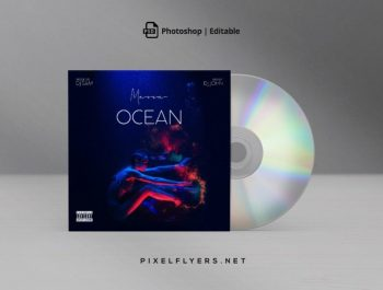 Under Water Free Mixtape CD Artwork Cover Template (PSD)