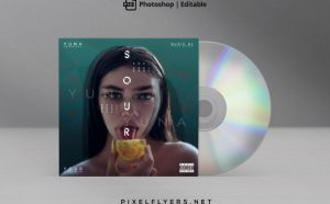 Urban Artistic Free Mixtape CD Artwork Cover Template (PSD)