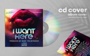 Want Here - Free Mixtape CD Cover Artwork Template (PSD)