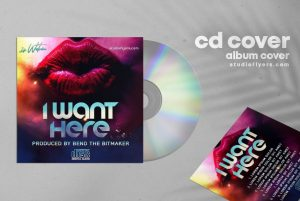 Want Here – Free Mixtape CD Cover Artwork Template (PSD)