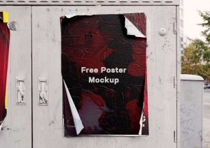 Weathered Poster Free Mockup